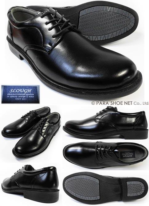 SLOVGH プレーントゥ ビジネスシューズ 紳士靴 黒 3E(EEE)28cm(28.0cm)、29cm(29.0cm)、30cm(30.0cm)
