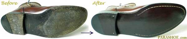レザーソール修理前と修理後