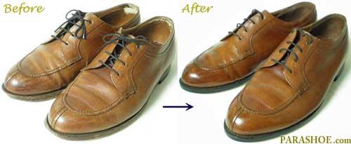 ジョンストン&マーフィー革靴のクリーング前と後