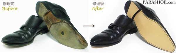 MAGNANNI(マグナーニ)紳士革靴のソール交換前と修理後