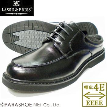 LASSU&FRISS(ラス アンド フリス)Uチップ ビジネススリッパ/ビジネスサンダル ワイズ4E(EEEE)通気底 黒