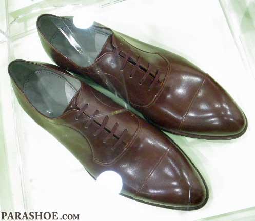 小笠原製靴の手縫い靴 上からみた写真