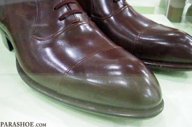 小笠原製靴の手縫い靴の革