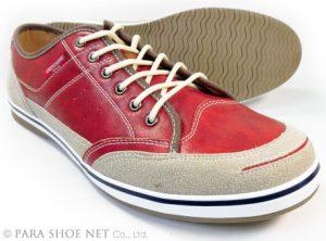 AMERICANINO(EDWIN)レザースニーカー カジュアルシューズ レッド(赤)ワイズ3E(EEE)27.5cm、28cm(28.0cm)、29cm(29.0cm)、30cm(30.0cm)【大きいサイズ(ビッグサイズ)メンズ紳士靴】