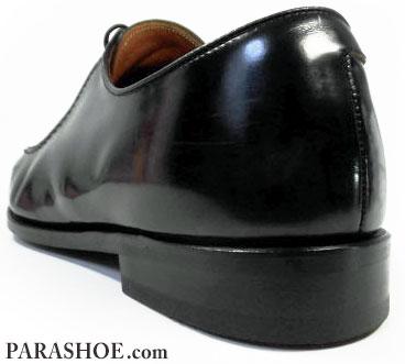 リーガル(REGAL)紳士靴(革靴・ビジネスシューズ)ラバーソール交換修理後のヒール(革積み上げ)