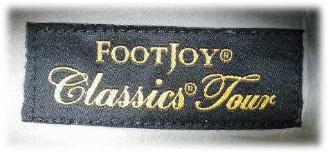 FootJoy Classics Tour(フットジョイ クラシックス ツアー)ロゴ織りネーム