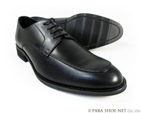 PARASHOE 本革 Uチップ ビジネスシューズ 黒(ブラック)ワイズ(足幅)3E(EEE)22cm(22.0cm)、22.5cm、23cm(23.0cm)、23.5cm、24cm(24.0cm) 【小さいサイズ(スモールサイズ)革靴・紳士靴】
