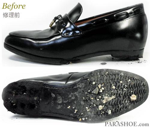 スペシャルシューズ(Special SHOES)シークレットヒールアップシューズ (革靴・紳士靴・ビジネスシューズ・背が高くなる底上げ靴)オールソール交換修理(靴底張替えリペア)/レザーソール(革底)修理前