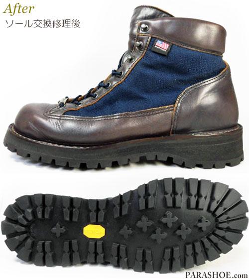 ダナー (Danner)×ソフネット(SOPHNET/SOPH.)コラボブーツ オールソール交換修理(靴底張替えリペア)/ビブラム(Vibram) ソール148(ダナー エクスプローラー風へカスタム)修理後