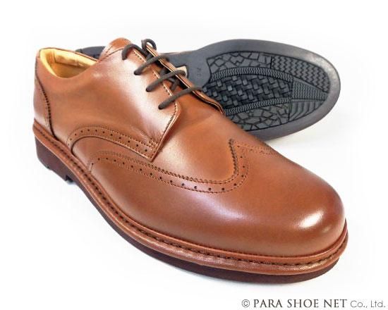 Rinescante Valentiano 本革 ウィングチップ ビジネスシューズ ワイズ4E(EEEE) ブラウン 27.5cm 28cm(28.0cm)29cm(29.0cm)30cm(30.0cm) 【大きいサイズ(ビッグサイズ)メンズ革靴・紳士靴】