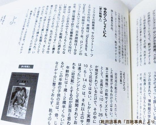 夢の靴職人(ゆめのくつしょくにん)/百靴事典