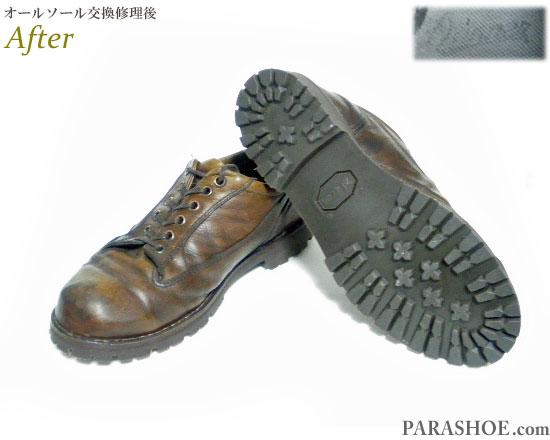 ダナー(Danner)マウンテンタイプ レザースニーカー ダークブラウン(メンズ 革靴・カジュアルシューズ・紳士靴)オールソール交換修理(靴底張替え修繕リペア)/ビブラム(vibram)1136(ダークブラウン)-ステッチダウン製法 修理後