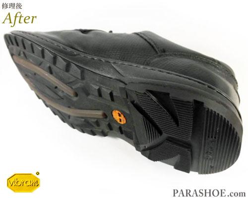 ティンバーランド(Timberland)SMART レザーモックトゥモカシンシューズ 黒(メンズ 革靴・カジュアルシューズ・紳士靴)ヒール(かかと)修理後