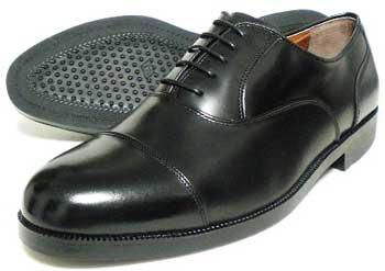 超幅広甲高5E(EEEEE/Fワイズ)の内羽根ストレートチップ(キャップトゥ)本革ビジネスシューズ(メンズ革靴・日本製)
