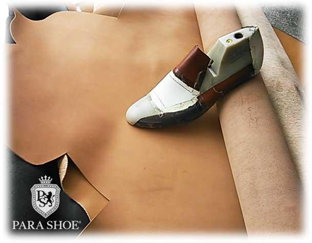 靴のパラダイス 修理イメージ 靴型(木型)と皮革