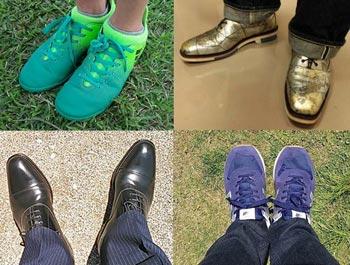 靴の写真を投稿
