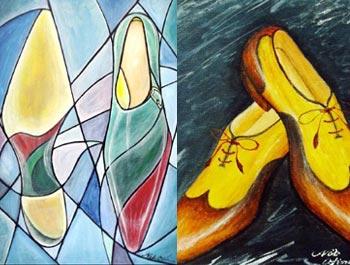 靴の絵画(シューズアート)