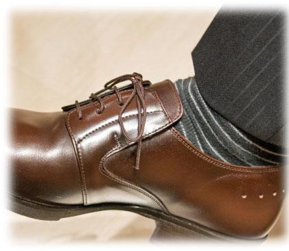 革靴とソックス(靴下)