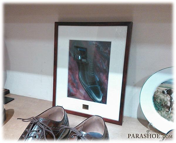 東京銀座にある紳士靴専門店「REGAL TOKYO(リーガルトーキョー)」に飾られた絵画