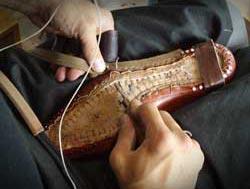 靴の製法をイラストと写真でわかりやすく説明。