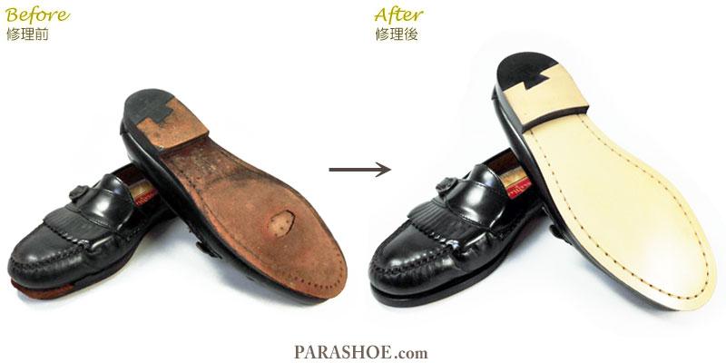 マッケイ製法で修理した紳士靴