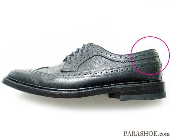 革靴(ビジネスシューズ・紳士靴)のかかと部分