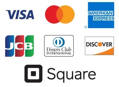 クレジットカード決済 by Square(VISA/MASTER/JCB/AMEX)
