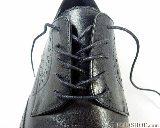 オーバーラップで通した靴紐 完成の見た目