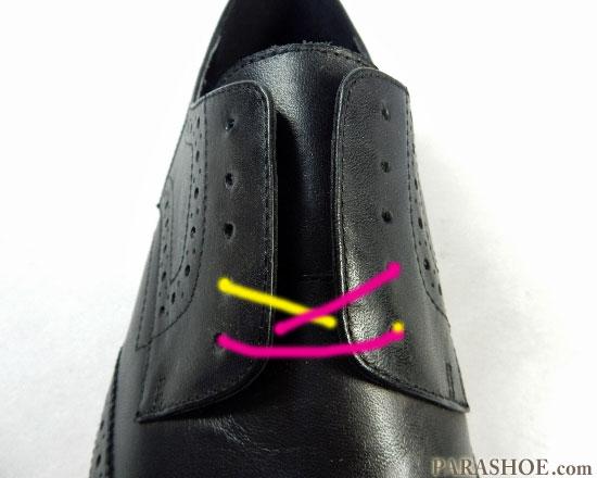 オーバーラップでの靴紐の通し(結び)方 手順1