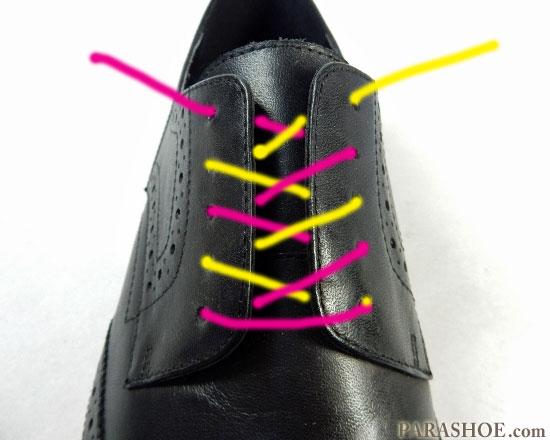 オーバーラップでの靴紐の通し(結び)方 手順2