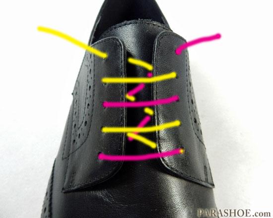 パラレルでの靴紐の通し(結び)方 手順2