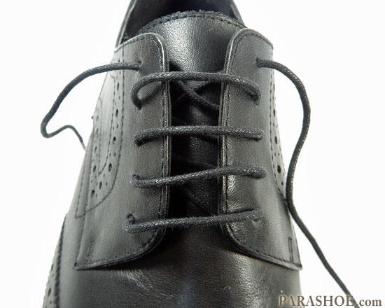 シングルの通した靴紐 完成した見た目