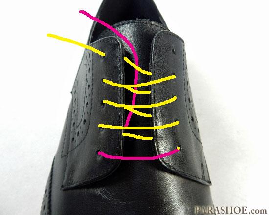 シングルでの靴紐の通し(結び)方 手順2