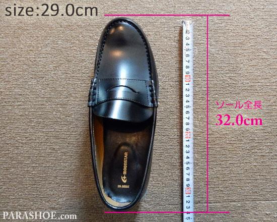 29.0cmのローファーの靴の全長(ソール実寸)