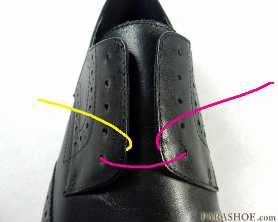パラレルでの靴紐の通し(結び)方 手順1