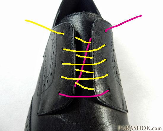 シングルでの靴紐の通し(結び)方 手順3