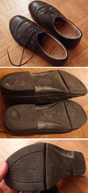 Finn Comfort の靴(シューズ)のソール割れ部分