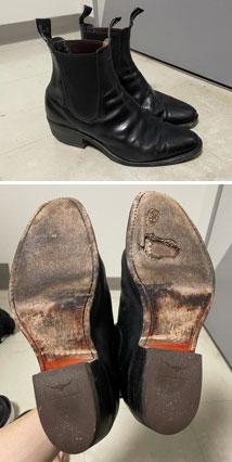 RMwilliams ブラック ブーツ レザーソールすり減り部分